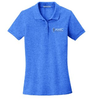 Port Authority Port Authority Ladies EZ Cotton Polo ( Blue Heather )