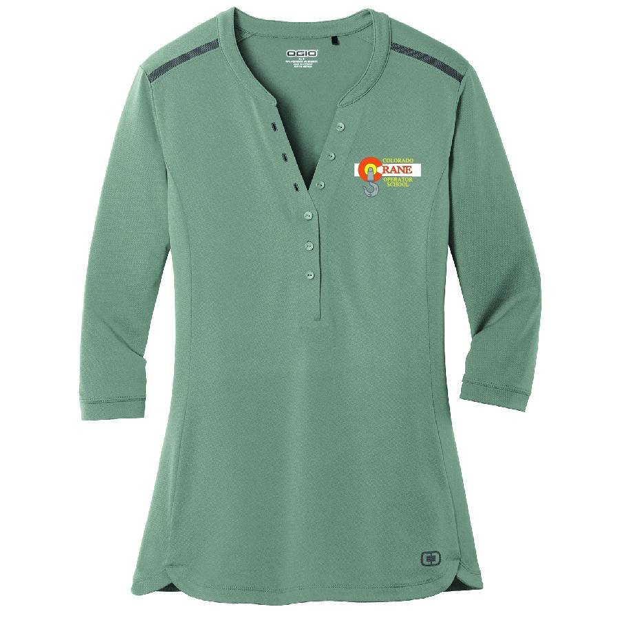 Ogio OGIO® Ladies Fuse Henley ( Rogue Grey )