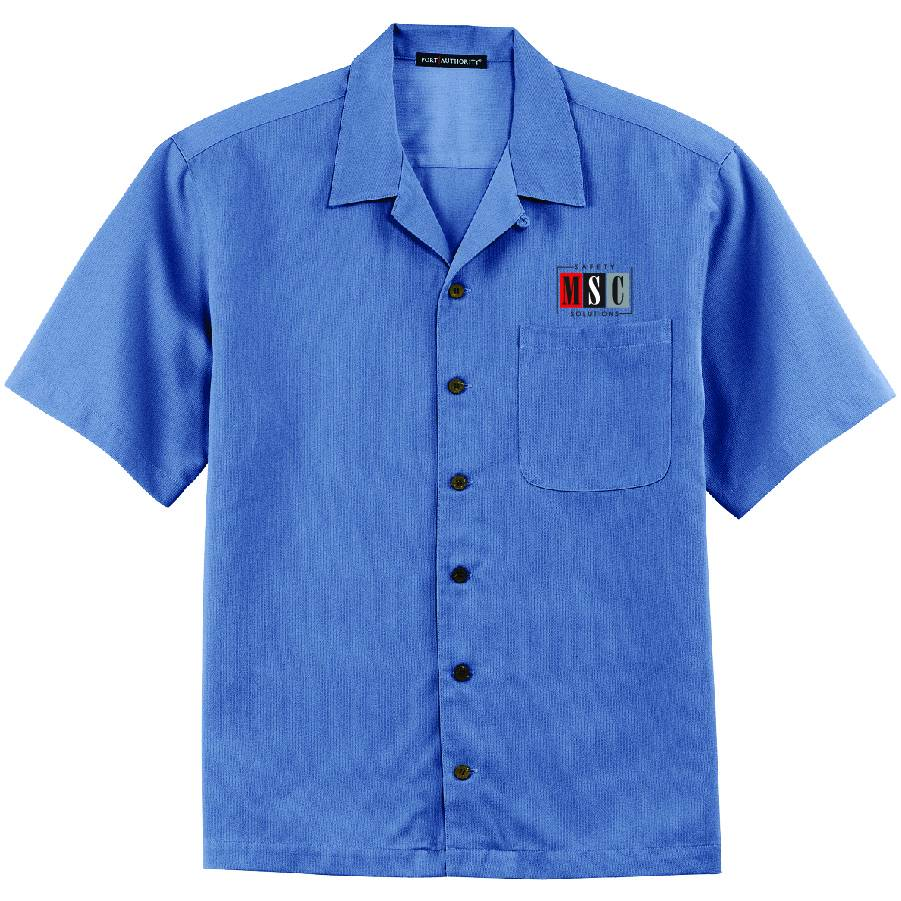 Port Authority Port Authority® Easy Care Camp Shirt ( Blue )