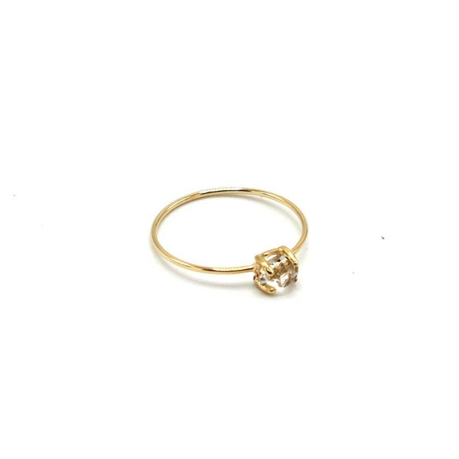 14K Herkimer Diamond Ring