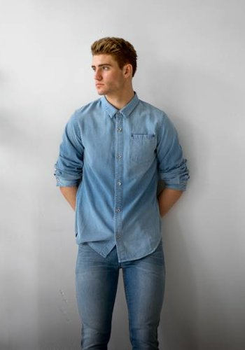 Robert Geller RG Denim Shirt