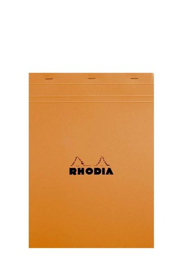 "Rhodia 8"" x 11"" Orange Blank Pad"