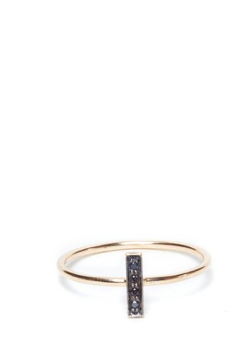 I and I Black Diamond Rectangle Ring