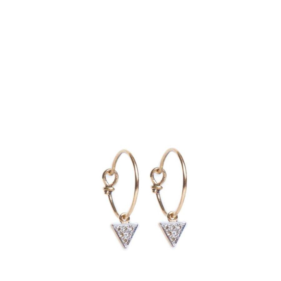 Diamond Triangle Hoop Earrings