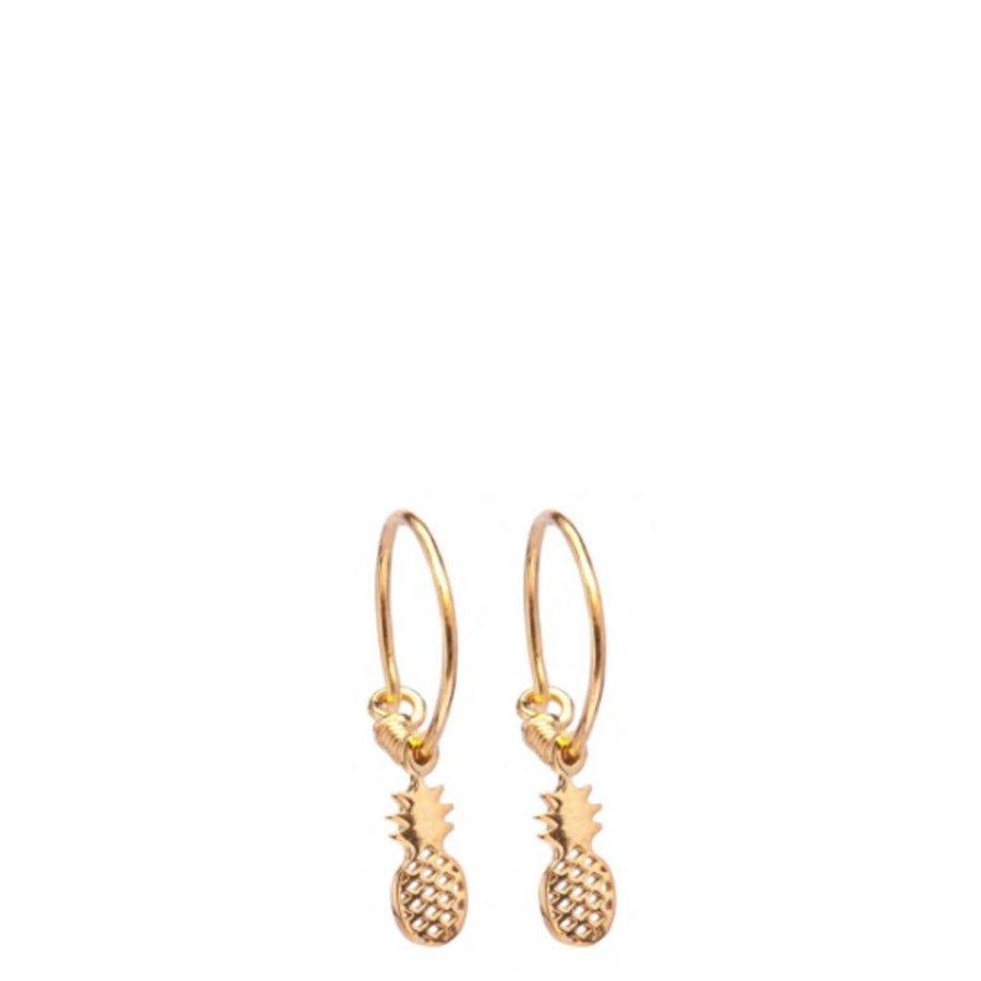 Pineapple Hoop Earrings