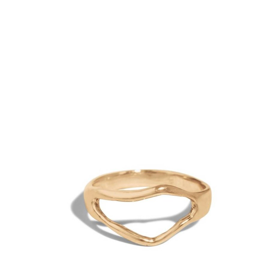 14K Bend Ring