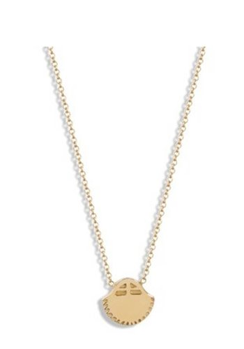 Bario Neal Sol Pendant Gold Necklace