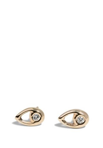 Bario Neal Aira Stud Gold with Diamonds Earrings