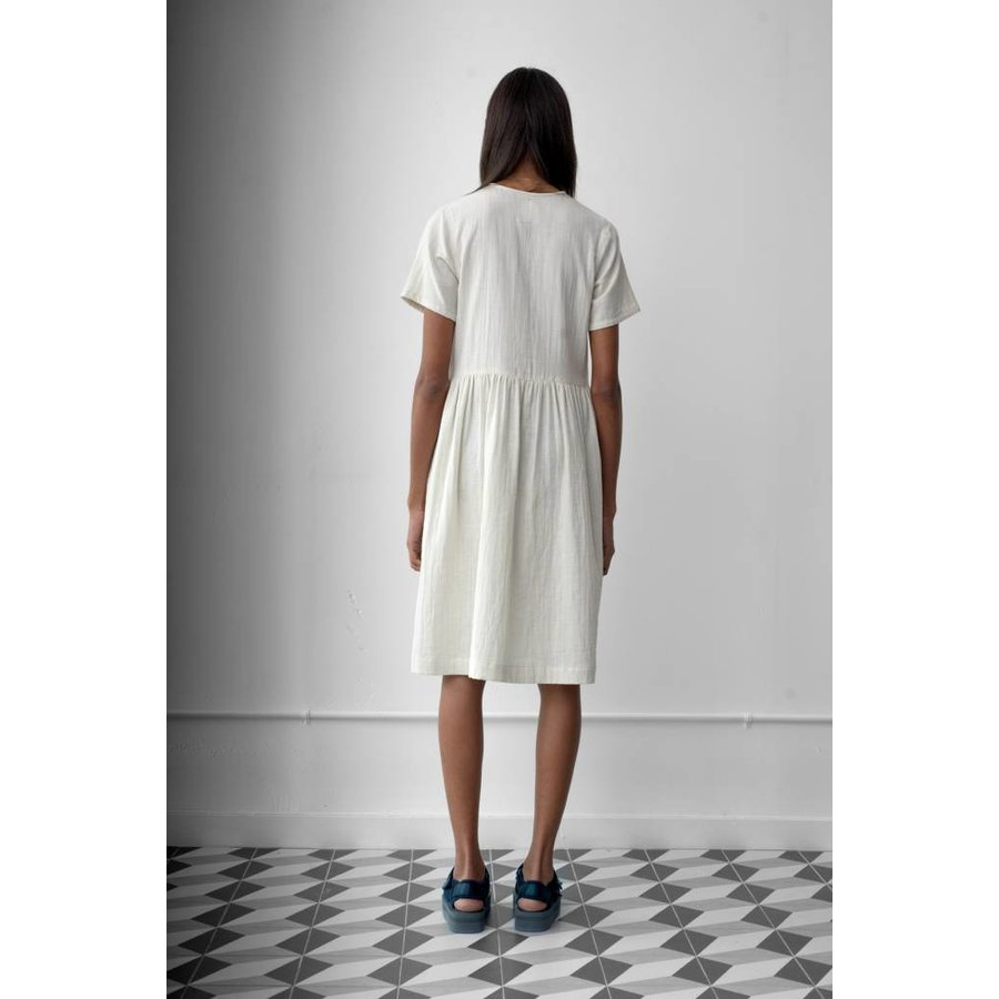 Short Sleeve Button Dress