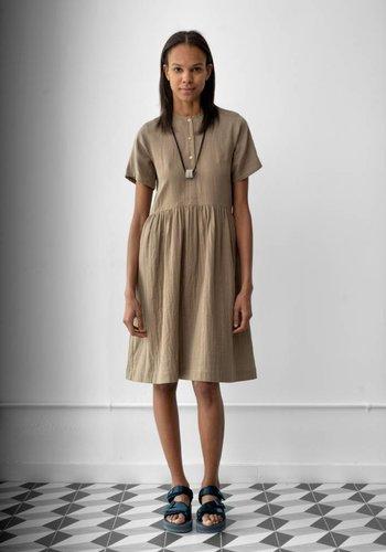 Wrk-Shp Short Sleeve Button Dress