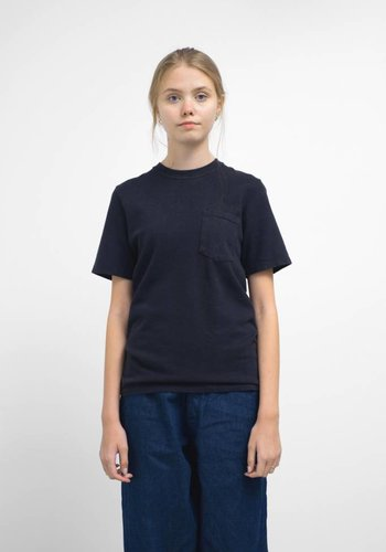 Jungmaven Black Indigo 10oz Jersey Short Sleeve Pocket Tee Shirt