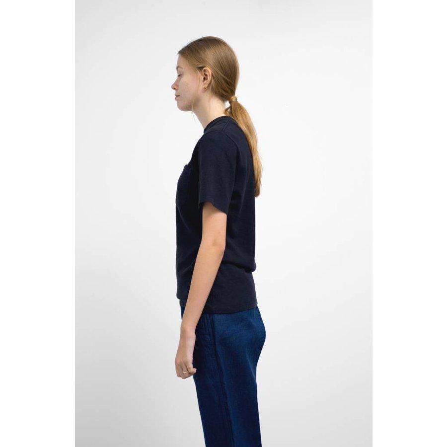 Black Indigo 10oz Jersey Short Sleeve Pocket Tee Shirt