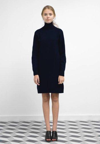 Sunspel Lambswool Roll Neck Knit Dress