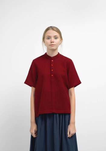 Wrk-Shp Cropped Wool Shirt