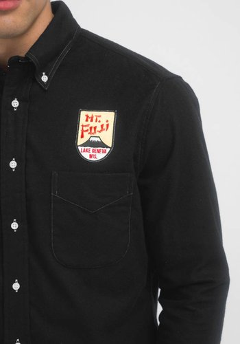 Gitman Vintage Mt. Fuji Patch Flannel Shirt