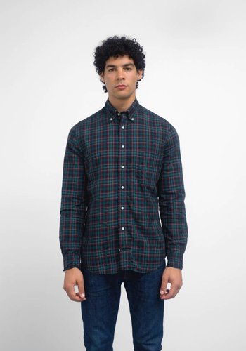 Gitman Vintage Long Sleeve Neat Plaid Shirt