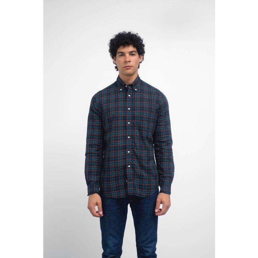 Long Sleeve Neat Plaid Shirt