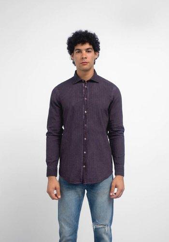 Massimo Alba Cotton Watercolor Buttondown Shirt
