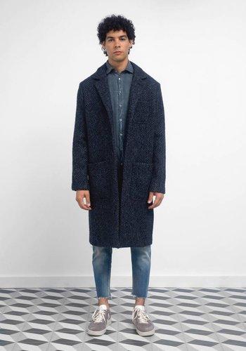 Massimo Alba Florio Textured Wool Long Coat