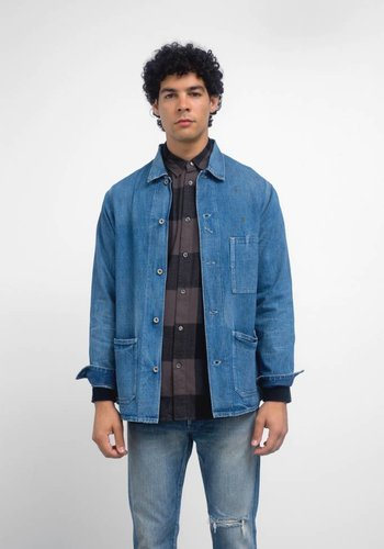 Chimala Damaged 10oz Denim Painter Work Jacket