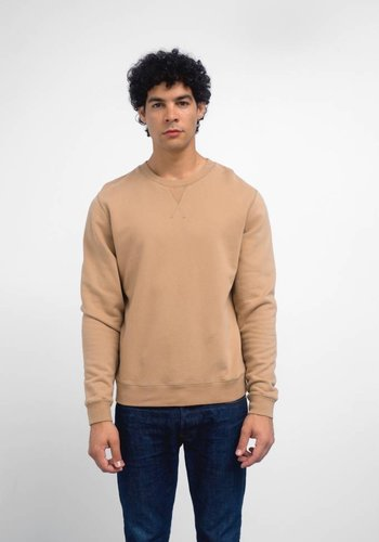 Sunspel Camel Loopback Cotton Sweatshirt
