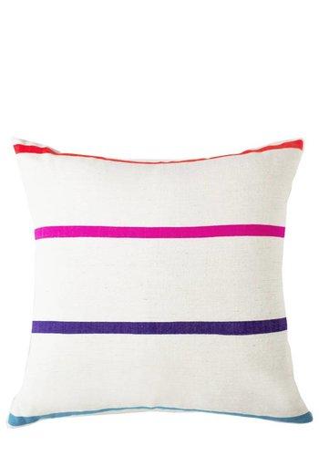 "Bole Road Textiles Katari Striped 18"" x 18"" Pillow"