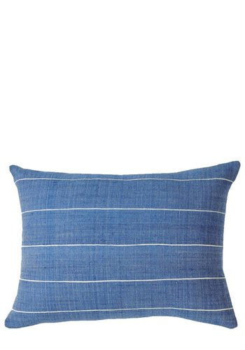 """Bole Road Textiles Melkam Azure 12"""" x 16"""" Pillow"""