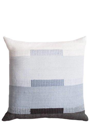 """Bole Road Textiles Bale Mist 18"""" x 18"""" Pillow"""