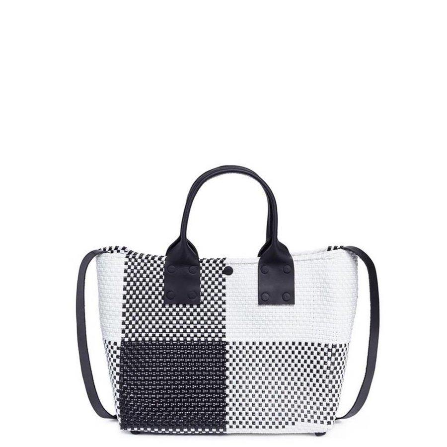Leather Handle Cross-Body Bag