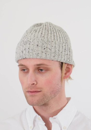 Frost Flecked Cashmere Stocking Cap