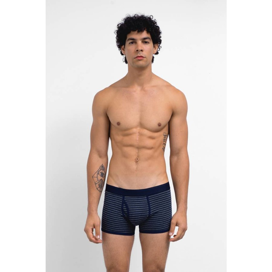 Charcoal/Navy Low Waist Trunk