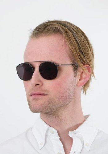 Illesteva Gunmetal Mykonos Sunglasses with Grey Flat Lenses