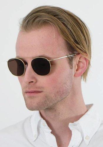 Illesteva Gold Mykonos Sunglasses