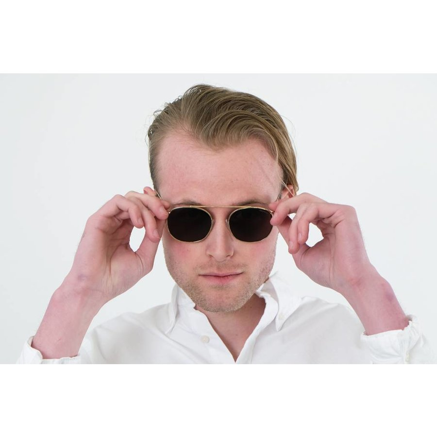 Gold Mykonos Sunglasses