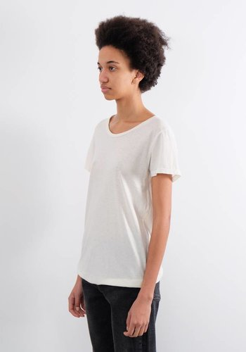 Jungmaven Women's Washed White Basic 30/70 Tee