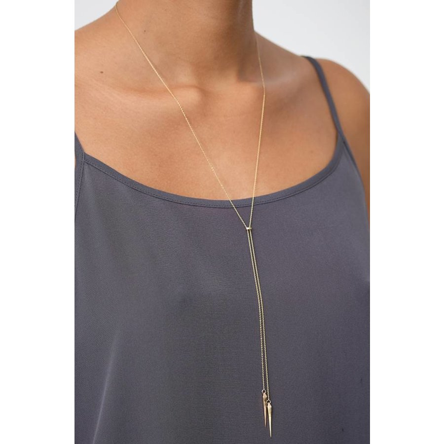 Convex Lariat Necklace