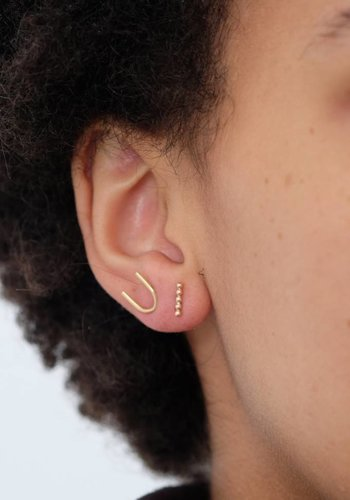 Susumi Studio 14k Beaded Bar Stud Earring