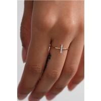 White Diamond Rectangle Ring
