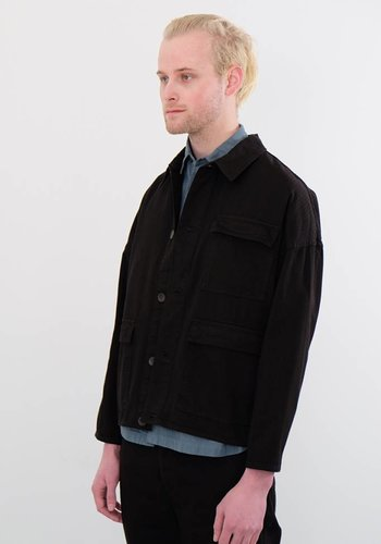 Gustav Von Aschenbach Medium Striped Washed Cotton Three Pocket Jacket