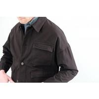 Medium Striped Washed Cotton Three Pocket Jacket