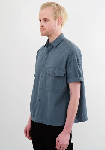 Gustav Von Aschenbach Chest Pocket Cotton Short Sleeve Shirt