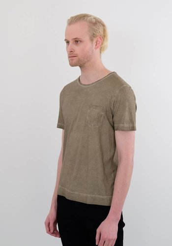 Massimo Alba Panama Over Dyed Pocket Tee