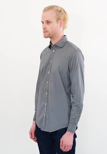 Massimo Alba Canary Over Dyed Gingham Woven Shirt
