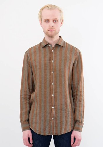 Massimo Alba Genova Over Dyed Stripe Woven Shirt