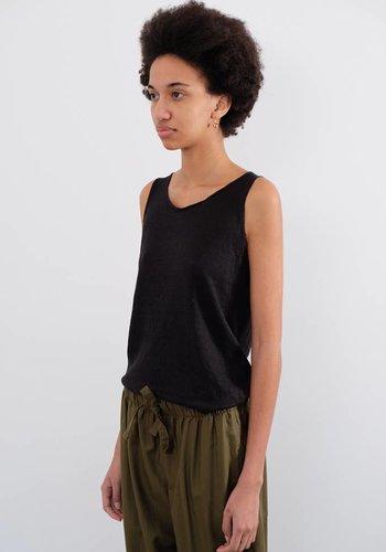 Evam Eva Garment Dyed Linen Sleeveless Tank