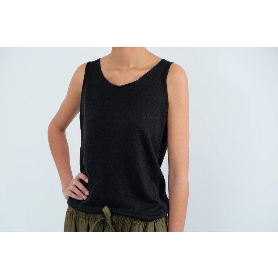 Garment Dyed Linen Sleeveless Tank