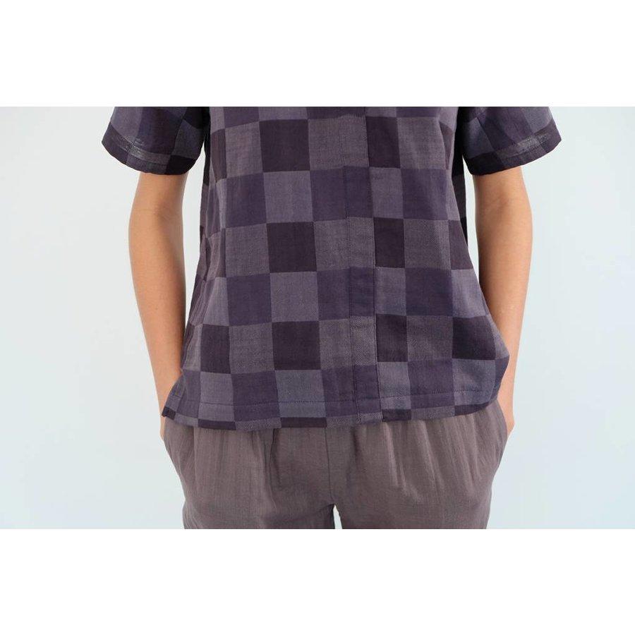 Cotton Double Gauze Cropped Shirt