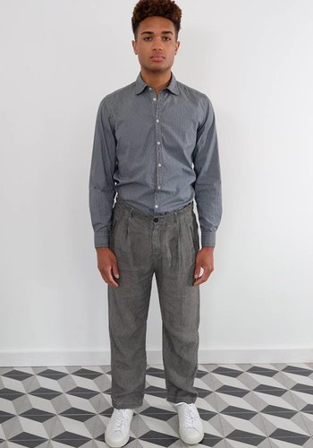 Massimo Alba Scotta Over Dyed Linen Stripe Pant