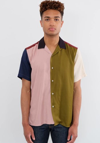 Gitman Vintage Short Sleeve Mixed Camp Shirt