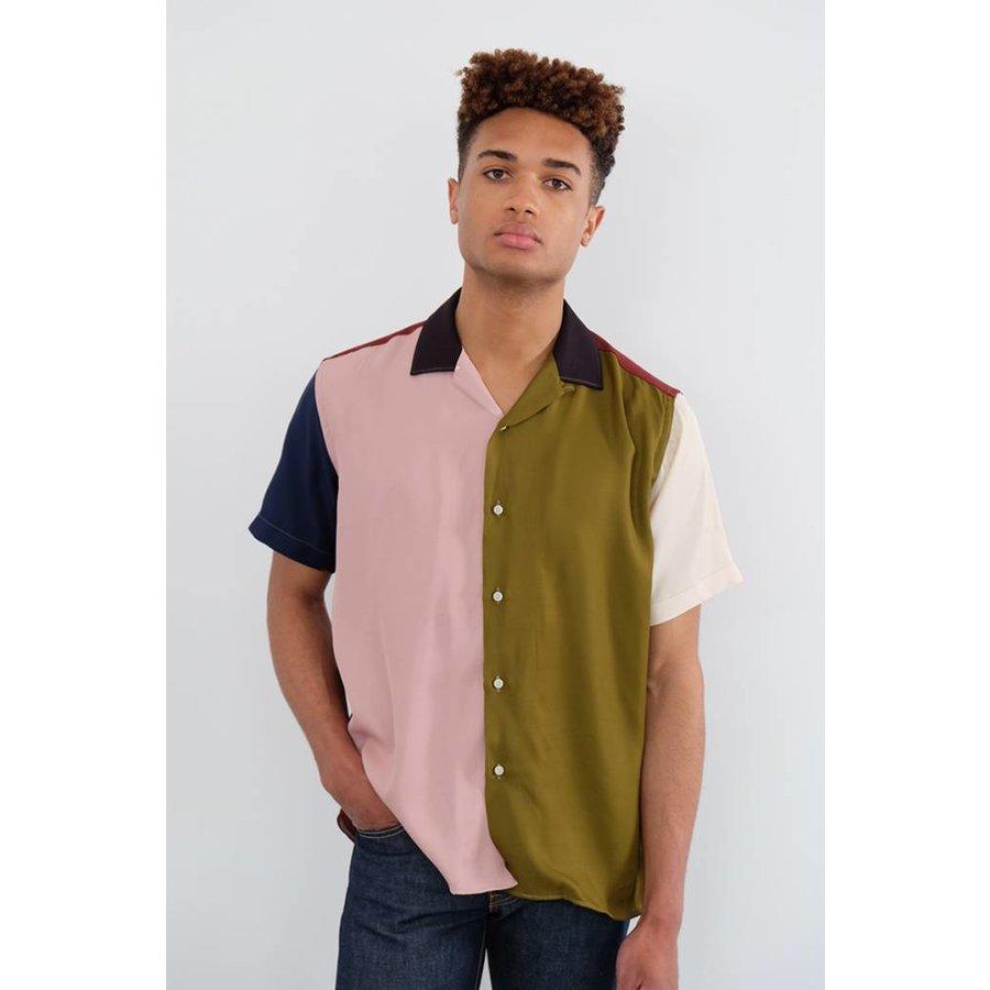 Short Sleeve Mixed Camp Shirt